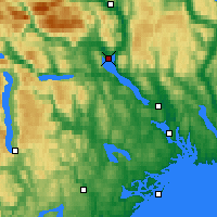 Nearby Forecast Locations - Gvarv - Map