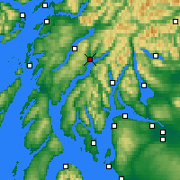 Nearby Forecast Locations - Inveraray - Map