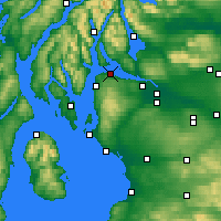Nearby Forecast Locations - Greenock - Map