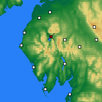 Nearby Forecast Locations - Keswick - Map