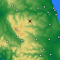 Nearby Forecast Locations - Stanhope - Map