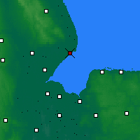 Nearby Forecast Locations - Skegness - Map
