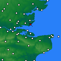 Nearby Forecast Locations - Shoeburyness - Map