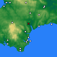Nearby Forecast Locations - Exeter - Map