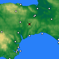 Nearby Forecast Locations - Taunton - Map