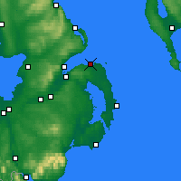 Nearby Forecast Locations - Bangor - Map