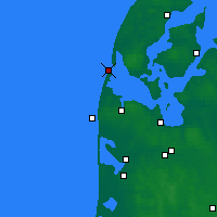 Nearby Forecast Locations - Thyborøn - Map