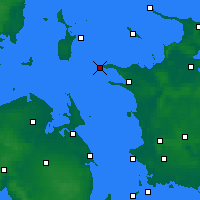 Nearby Forecast Locations - Rosnaes Cape - Map