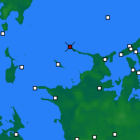 Nearby Forecast Locations - Gniben Point - Map