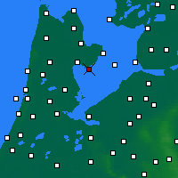Nearby Forecast Locations - Wijdenes - Map