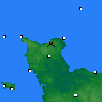Nearby Forecast Locations - Cherbourg-Octeville - Map