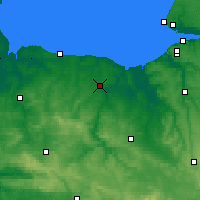 Nearby Forecast Locations - Caen - Map