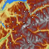 Nearby Forecast Locations - Chamonix - Map