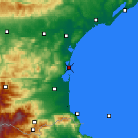 Nearby Forecast Locations - Leucate - Map