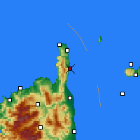Nearby Forecast Locations - Cap Sagro - Map
