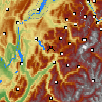Nearby Forecast Locations - La Clusaz - Map