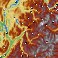 Nearby Forecast Locations - Val d'Arly - Map