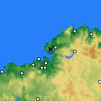 Nearby Forecast Locations - Ferrol - Map