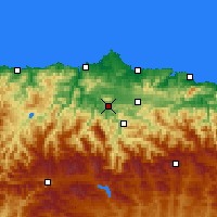 Nearby Forecast Locations - Oviedo - Map