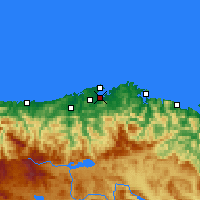 Nearby Forecast Locations - Santander / Parayas - Map