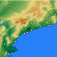 Nearby Forecast Locations - Reus - Map