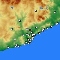 Nearby Forecast Locations - Sabadell - Map