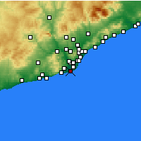 Nearby Forecast Locations - El Prat de Llobregat - Map