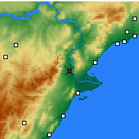 Nearby Forecast Locations - Tortosa - Map