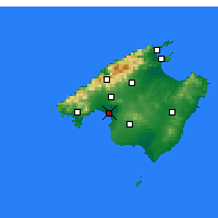 Nearby Forecast Locations - Majorca - Map