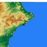 Nearby Forecast Locations - Benidorm - Map
