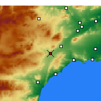 Nearby Forecast Locations - Lorca - Map