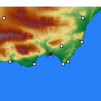 Nearby Forecast Locations - Almería - Map