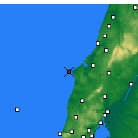 Nearby Forecast Locations - Cabo Carvoeiro - Map