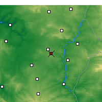 Nearby Forecast Locations - Beja - Map