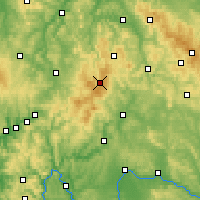 Nearby Forecast Locations - Rhön Mountains - Map