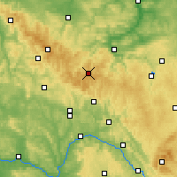 Nearby Forecast Locations - Thuringian Forest - Map