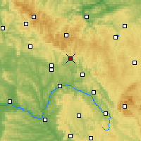 Nearby Forecast Locations - Sonneberg - Map