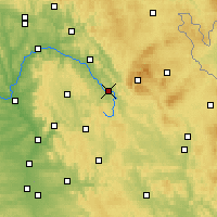 Nearby Forecast Locations - Bayreuth - Map