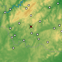 Nearby Forecast Locations - Sankt Wendel - Map