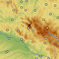 Nearby Forecast Locations - Großer Arber - Map