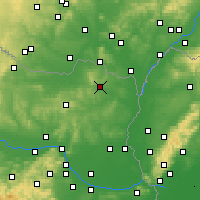 Nearby Forecast Locations - Mistelbach - Map