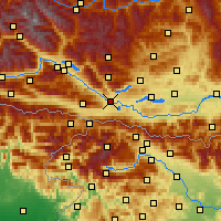 Nearby Forecast Locations - Villach - Map