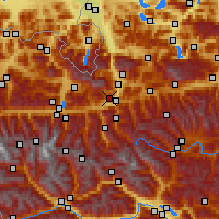 Nearby Forecast Locations - Sankt Veit im Pongau - Map