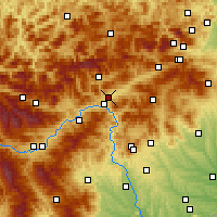Nearby Forecast Locations - Kapfenberg - Map