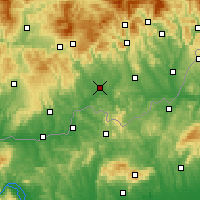 Nearby Forecast Locations - Lučenec - Map
