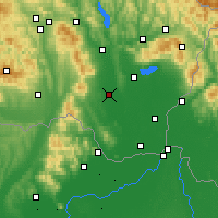 Nearby Forecast Locations - Milhostov - Map