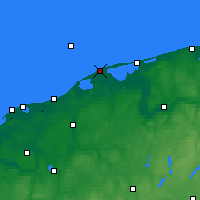 Nearby Forecast Locations - Czołpino - Map