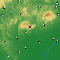 Nearby Forecast Locations - Kékes - Map
