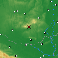 Nearby Forecast Locations - Pécs - Map