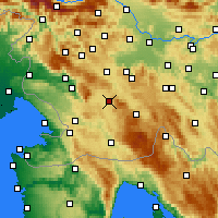 Nearby Forecast Locations - Postojna - Map